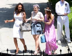 kelly osbourne and mel b photos kim kardashian u0027s baby shower