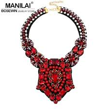 indian chokers necklace images Manilai crystal bead luxury collar choker necklace women jpg