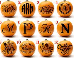 Halloween Decorations Pumpkins Personalized Pumpkin Etsy
