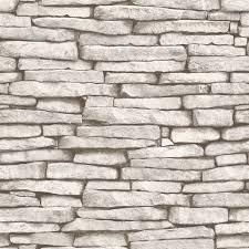 Stone Brick Fine Decor Luxury 10m Effects Wallpaper U2013 Stone Brick Wood Slate