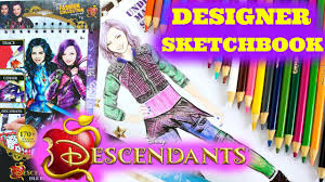 Home Design Sketchbook Mal Disney Descendants Isle Rules Fashion Collection Designer
