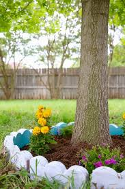 diy tree border garden hometalk
