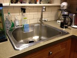Kitchen Faucet And Sinks Simple Sink And Faucet Ideas With White Ceramic Walls Kitchen