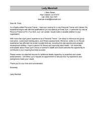leading professional personal trainer cover letter examples
