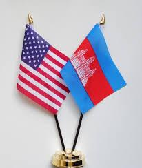Cambodia Flag United States Of America U0026 Cambodia Friendship Table Flag