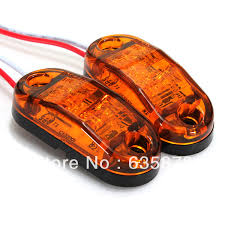2x led side marker light clearance l 12v 24v e marked dot car