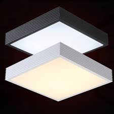 flat square ceiling lights modern brief square mental led ceiling l home deco flat foyer