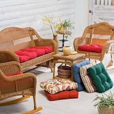 Rattan Settee Wicker Settee Cushions Outdoor Home Design Ideas
