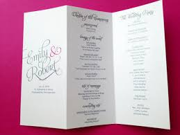 tri fold wedding program templates wedding program templates tri fold evolist co