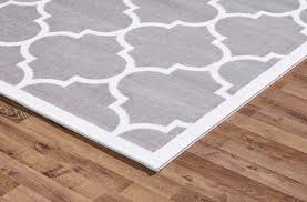 Large Modern Area Rugs Large Modern Geometric Moroccan Trellis Thin Carpet Silver