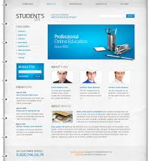 informational website templates free education website template