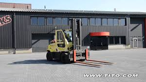 tito com hyster used 6 ton forklift h6 0ft driving and using