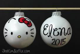 easy diy hello ornaments the six fix