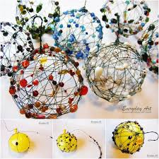 ideas diy wire and beaded ornaments