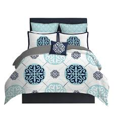 Duvet Dictionary Light Blue Star Lattice Pillow Sham Project Cottage
