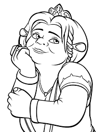 princess fiona coloring pages for kids printable free shrek