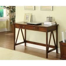 desks home office furniture the home depot titian antique tobacco desk