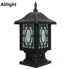 Outdoor Post Light Traditional Lantern Decor Aluminum Landscape Lighting