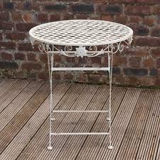 round vintage patio table 90cm garden metal furniture outdoor