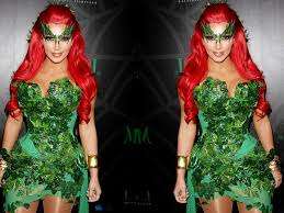 halloween central costumes central wallpaper kim kardashian halloween poison ivy costume 2011