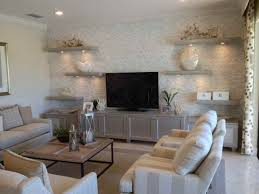 Livingroom Shelves by Modern Floating Shelves And Tv Stand On Nautical Living Room Plus