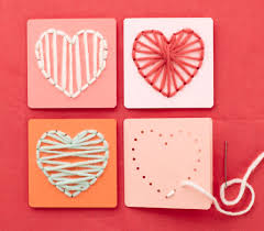 kid valentines kid craft card string heart template the