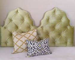 Upholstered Wall Mounted Headboards Custom Tufted Upholstered Headboard Made To Order Wall