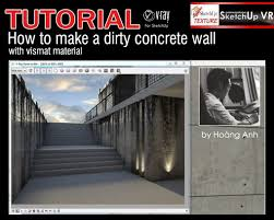 tutorial sketchup autocad tutorial vray for sketchup how to make a dirty concrete wall cover