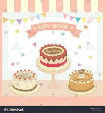 illustration vector cakes menu design birthday stock vector