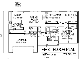 1 Bedroom House Floor Plans Bedroom House Plans With Basement 3 Bedroom 1 Floor Plans 1