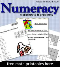 high numeracy u0026 arithmetic worksheets free maths