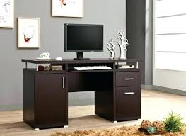 Espresso Office Desk Compact Office Desk Cabinet Espresso Finish Wood For Home