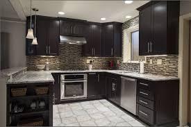 Espresso Cabinets Kitchen Espresso Cabinets With White Appliances Cappuccino Kitchen