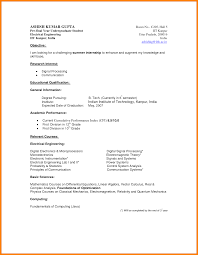 Resume Sample Tagalog by Cv For Internship Sample For Engineers Engineering Internship