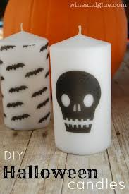 diy halloween candles wine u0026 glue