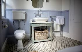 Beadboard In Small Bathroom - neutral small bathroom with chic design and pattern floor tile and