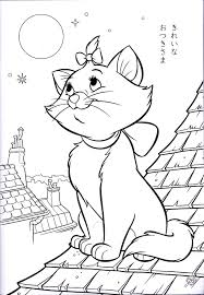 Halloween Coloring Pages Cats by Walt Disney Coloring Pages Marie Walt Disney Characters Photo