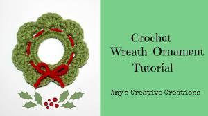 crochet wreath ornament tutorial