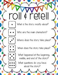 focus comprehension retelling directions students will get in