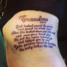 Family Tribute Tattoo Ideas Best 25 Memorial Tattoos Grandma Ideas On Pinterest Memorial