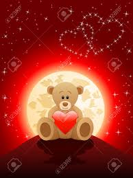 teddy valentines day s day card with a teddy royalty free cliparts