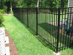 would love to use aluminum fencing to enclose our backyard for the