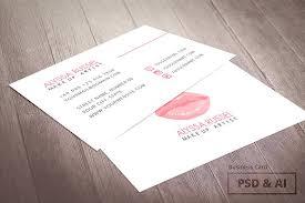 makeup artist business card business card templates creative