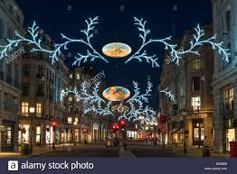 Christmas Decorations London Cheap by Christmas Decorations On Regent Street At Night London Uk Stock