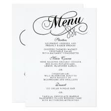 wedding menu templates custom wedding menu cards