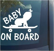 Baby On Board Meme - baby on board vinyl decal sticker boy girl funny skateboard skate