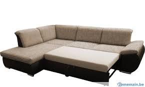 canapé d angle convertible en lit canapé d angle convertible lit avec coffre bimatière en tiss a