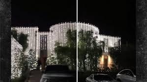 check out kim and kanye u0027s insane christmas lights tmz com