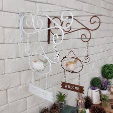 home decor free shipping free shipping vintage style metal welcome board iron bird wall