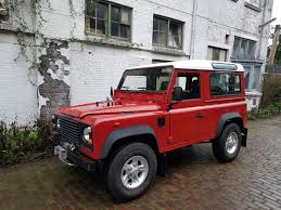 red land rover 1988 land rover defender 90 low mileage olivers classics